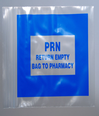 Blue PRN Re-Sealable Baggies