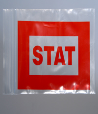 Red STAT Re-Sealable Baggies