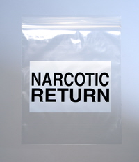 Narcotic Return Bag Re-Sealable Baggies