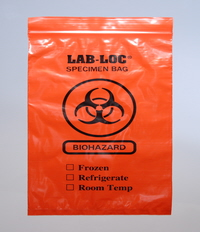 Red Opaque Bio-Hazard Specimen Transfer Bags