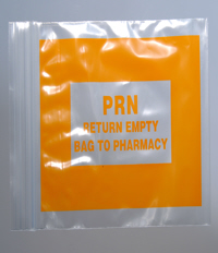 Orange PRN Re-Sealable Baggies